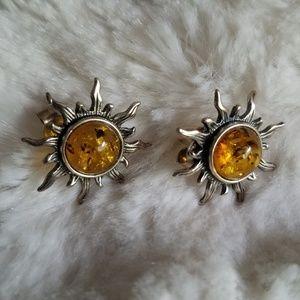 Baltic Amber Sun Earrings